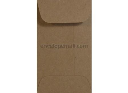 Brown Bag Kraft 2 1 4 X 3 Mini Open End Envelope 100 Pack