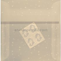 Translucent Snow Dots 6-1/2 x 6-1/2 Square Envelope
