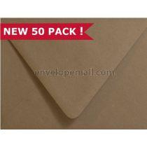 Brown Bag Kraft A7 Euro Flap  Envelope