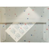 Translucent Confetti Colors 5-1/4 x 7-1/4 Envelope