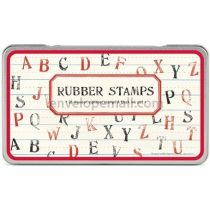 Alphabet Rubber Stamps 26 Letters