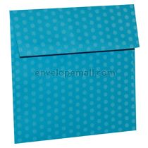 "Dotted Washi Blue - Square (6-1/2 x 6-1/2"") Envelope 100 Pack"