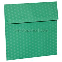 """Dotted Washi Green - Square (6-1/2 x 6-1/2"""") Envelope 100 Pack"""