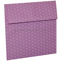 "Dotted Washi Purple - Square (5-1/2 x 5-1/2"") Envelope 100 Pack"