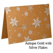 Antique Gold A7 Folded Card
