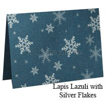Stardream Lapis Lazuli Silver Snowflakes A7 Folded Card, 5-1/8 x 7