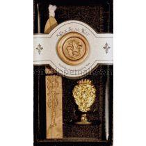 Fleur De Lys Brass Wax Seal Kit w/Bronze Wax Stick