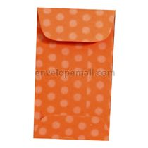 "Dotted Washi Orange - Mini Open End (2-1/4 x 3-3/4"") Envelope 100 Pack"