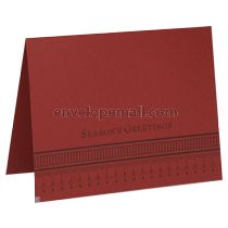 Season's Greetings A2 Folded Designer Card - Carnival Red 80 lb