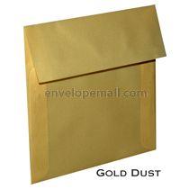 "Translucent Gold Dust - Square (5-1/2 x 5-1/2"") Envelope"