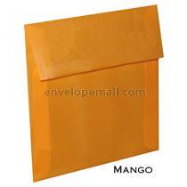 """Translucent Mango - Square (5-1/2 x 5-1/2"""") Envelope"""