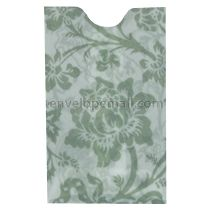 "Translucent Floral Green Card Sleeve - 2-1/4 x 3-5/8"" Envelope"