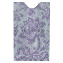"Translucent Floral Lilac Card Sleeve - 2-1/4 x 3-5/8"" Envelope"
