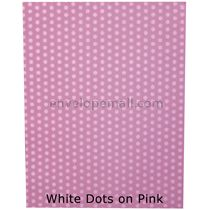 "Translucent White Dots/Pink 30 lb Bond - Sheets 8-1/2 x 11"" 100 Pack"