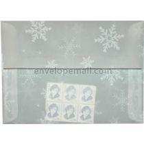"Translucent Snowflakes - A7 (5-1/4 x 7-1/4"") Envelope"