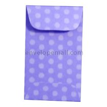 "Dotted Washi Violet - Mini Open End (2-1/4 x 3-3/4"") Envelope 100 Pack"