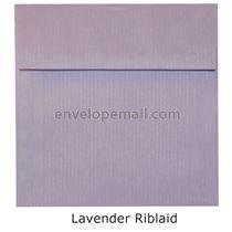 "Riblaid Lavender - Square (5-1/2 x 5-1/2"") Envelope"