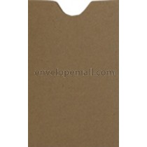 "Brown Bag Kraft 2-1/4 x 3-5/8"", (Card Sleeve) Envelope"