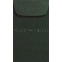 "Carnival Forest Green 2-1/4 x 3-3/4"", (Mini Open End) Envelope"