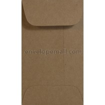 "Brown Bag Kraft 2-1/4 x 3-3/4"", (Mini Open End) Envelope"