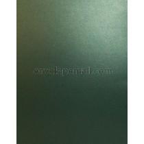 Sirio Pearl Metallic Jungle Green 110 lb. Cover Sheets 8-1/2 x 11, 100