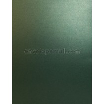 Sirio Pearl Metallic Jungle Green 110 lb. Cover Sheets 8-1/2 x 11, 100