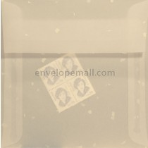 Translucent Confetti White 6-1/2 x 6-1/2 Square Envelope