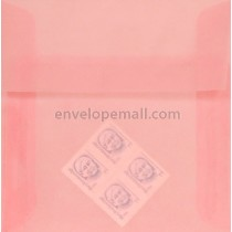 "Translucent Blush - Square (6-1/2 x 6-1/2"") Envelope"