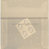 Translucent Snow Dots 5 x 5 Square Envelope