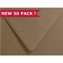 Brown Bag Kraft A7 Euro Flap  Envelope