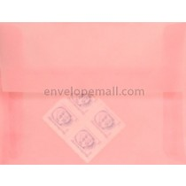"Translucent Blush - Booklet (6 x 9"") Envelope"