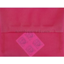 "Translucent Magenta - Booklet (6 x 9"") Envelope"