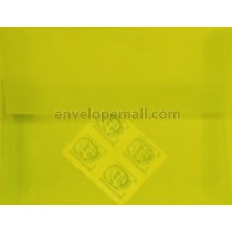 "Translucent Chartreuse - 4Bar  (3-5/8 x 5-1/8"") Envelope"