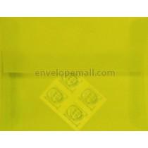 "Translucent Chartreuse - Booklet (6 x 9"") Envelope"