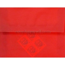 "Translucent Red - 4Bar  (3-5/8 x 5-1/8"") Envelope"