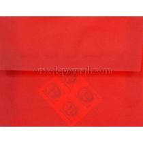 "Translucent Red - A2 (4-3/8 x 5-3/4"") Envelope"