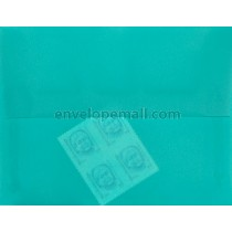 "Translucent Turquoise - 4Bar  (3-5/8 x 5-1/8"") Envelope 100 Pack"