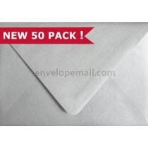 "Stardream Metallic Silver Euro Flap - A7 (5-1/4 x 7-1/4"") Envelope"