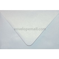 "Curious Metallic Ice Silver Euro Flap - 4Bar (3-5/8 x 5-1/8"")  Envelope"