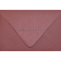 """Curious Metallic Red Lacquer Euro Flap - A7 (5-1/4 x 7-1/4"""") Envelope"""