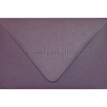 "Curious Metallic Violet Euro Flap - 4Bar (3-5/8 x 5-1/8"")  Envelope"