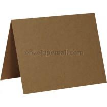 "Brown Box Kraft (A1/4Bar) Folded Card 3-1/5 x 4-7/8"",  50 Pack"