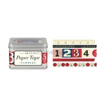 Numbers Decorative Paper Tape, 5 Assorted Rolls