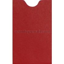 "Carnival Red Card Sleeve (2-1/4 x 3-5/8"") Envelope"