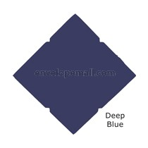 "Carnival Navy Blue  80 lb Cover - Pochette Invitation 5-1/8 x 7"" , 25 Pack"