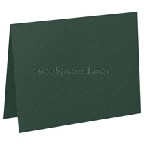 "Carnival Hunter Green 80 lb Cover -  4 Bar Folded Card 3-1/2 x 4-7/8"" 100 Pack"