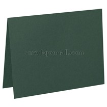 "Carnival Hunter Green 80 lb Cover - A7 Folded Card 5-1/8 x 7"" 100 Pack"
