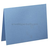 "Carnival Blue 80 lb Cover - 4 Bar Folded Card 3-1/2 x 4-7/8"" 100 Pack"