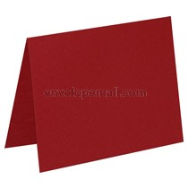 "Carnival Red 80 lb Cover -  4 Bar Folded Card 3-1/2 x 4-7/8"" 100 Pack"
