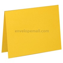 "Carnival Deep Yellow 80 lb Cover -  4 Bar Folded Card 3-1/2 x 4-7/8"" 100 Pack"